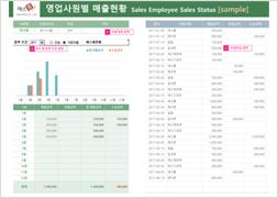 영업사원별 매출현황 보고서